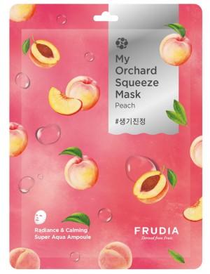 Maska w płacie My Orchard Squeeze Mask Peach – FRUDIA