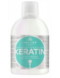 KALLOS Szampon do włosów z keratyną ułatwiający prostowanie KERATIN 1000 ml