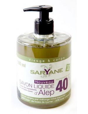 Naturalne Mydło z Aleppo 40% w Płynie 500ml – SARYANE