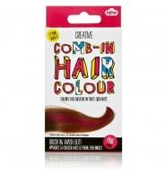 Comb In Hair Colour - Zestaw do farbowania pasemek włosów (różowy)
