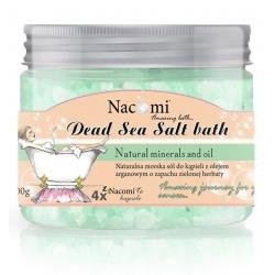 Nacomi Sól do kąpieli z Morza Martwego z olejkiem arganowym - Zielona Herbata