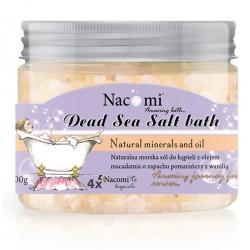 Nacomi Sól do kąpieli z Morza Martwego z olejkiem macadamia - Pomarańcza z Wanilią