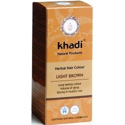 khadi Ziołowa farba do włosów - Jasny brąz (Light Brown)