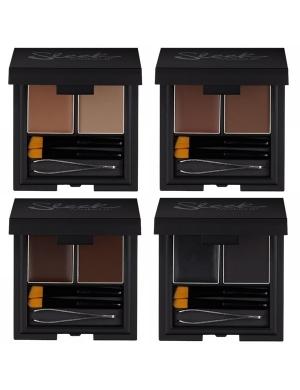 Sleek MakeUP Brow Kit - Cień i wosk do stylizacji brwi (zestaw)