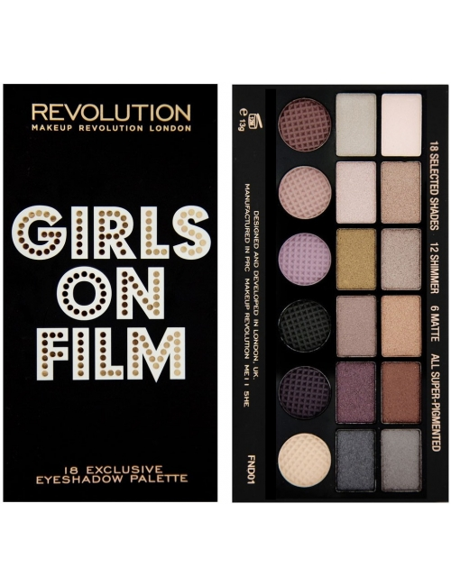 Makeup Revolution Paleta cieni do powiek Girls On Film