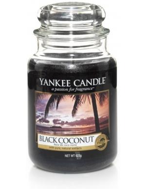 YANKEE CANDLE Duża świeca Czarny Kokos - Black Coconut (duży słój)