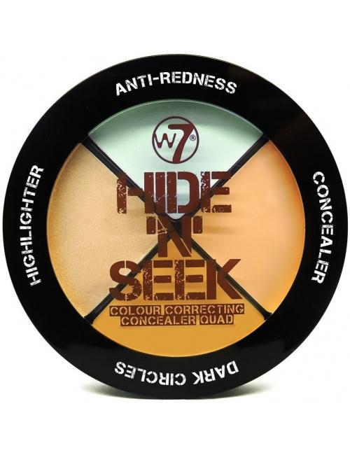 W7 Paleta korektórów Hide 'n' Seek Concealer Quad