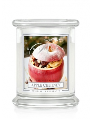 Kringle Candle Świeca zapachowa Large 2 Wick Jar - Apple Chutney