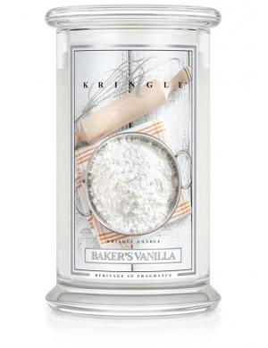 Kringle Candle Świeca zapachowa Medium 2 Wick Jar - Baker's Vanilla