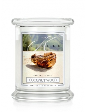 Kringle Candle Świeca zapachowa Medium 2 Wick Jar - Coconut Wood