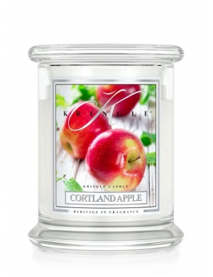 Kringle Candle Świeca zapachowa Medium 2 Wick Jar - Cortland Apple
