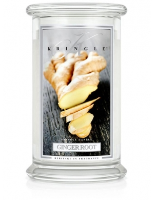 Kringle Candle Świeca zapachowa Large 2 Wick Jar - Ginger Root