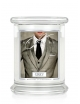 Kringle Candle Świeca zapachowa Medium 2 Wick Jar - Grey
