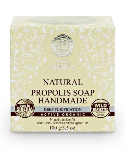 Natura Siberica Naturalne mydło propolisowe, Głębokie oczyszczenie