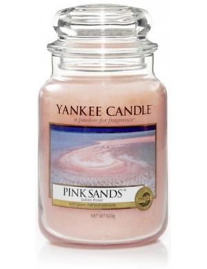 YANKEE CANDLE Duża świeca Pink Sands (duży słój)
