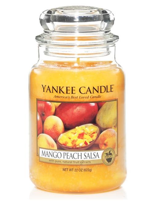 YANKEE CANDLE Świeca zapachowa - Mngo Peach Salsa (duży słój)
