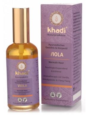 khadi Ajurwedyjski olejek do twarzy i ciała z fiołkiem