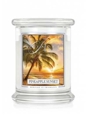 Kringle Candle Świeca zapachowa Medium 2 Wick Jar - Coconut Pineapple