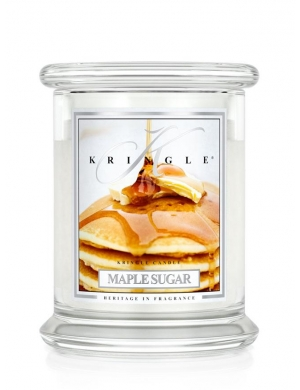 Kringle Candle Świeca zapachowa Medium 2 Wick Jar - Maple Sugar