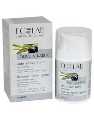 ECOLAB Regeneracyjny balsam po goleniu dla mężczyzn Oliwa & Shea