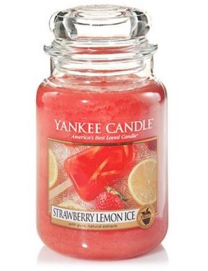 YANKEE CANDLE Świeca zapachowa - Strawberry Lemon Ice (duży słój)
