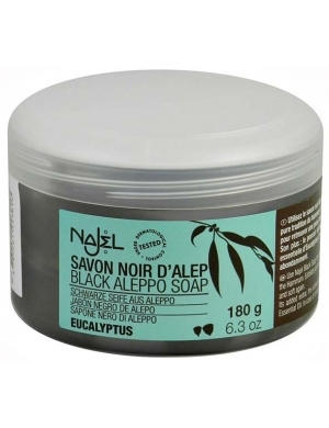NAJEL Czarne mydło Aleppo z eukaliptusem Savon Noir