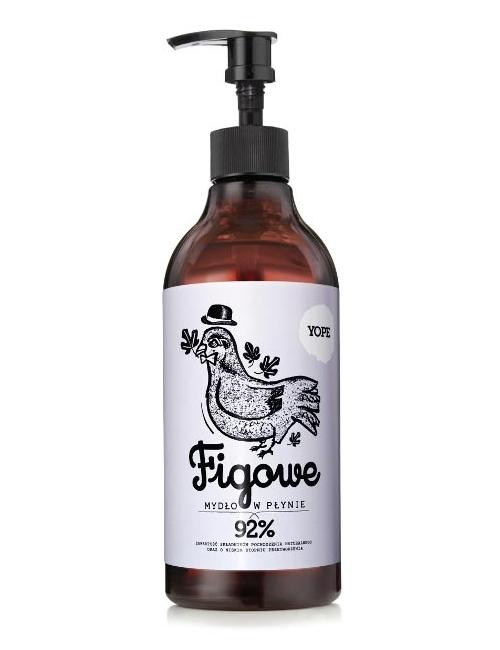 YOPE Nawilżające mydło w płynie Figowe (refill pack) 500ml