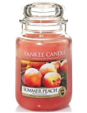 YANKEE CANDLE Duża świeca zapachowa - Summer Peach (duży słój)