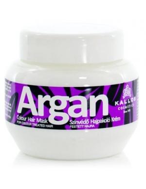 KALLOS Argan, Maska arganowa chroniąca kolor włosów fabowanych 275ml