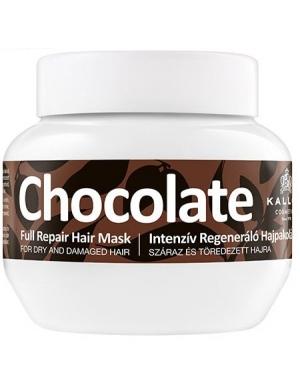 KALLOS Chocolate, Czekoladowa maska do włosów suchych i łamliwych 275ml