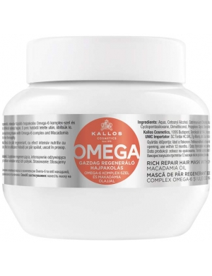 KALLOS KJMN Intensywnie regenerująca maska do włosów Omega 275ml