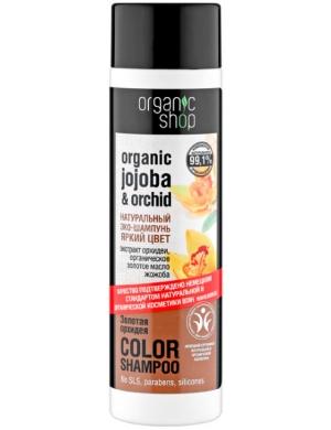 Organic Shop Szampon do włosów farbowanych Złota Orchidea