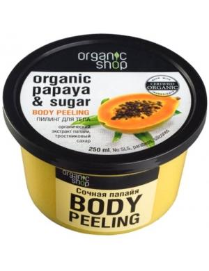 Organic Shop Organiczny cukrowy scrub do ciała Soczysta Papaja