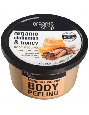 Organic Shop Cukrowy scrub do ciała Cynamon & Miód