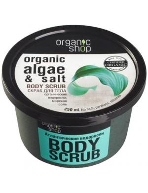 Organic Shop Odmładzający solny scrub do ciała Algi & Sól