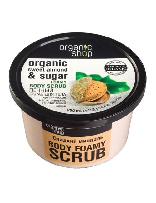 Organic Shop Nawilżający cukrowy scrub do ciała Słodki Migdał