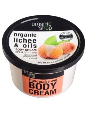 Organic Shop Organiczny witaminowy krem do ciała Liczi