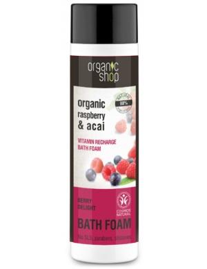 Organic Shop Organiczny płyn do kąpieli Maliny & Acai 500ml