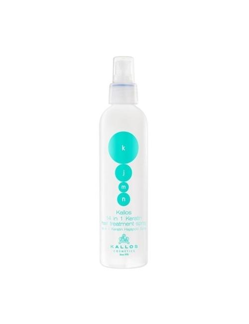 KALLOS KJMN Witaminowy spray do pielęgnacji włosów z keratyną 14 in 1 Keratin