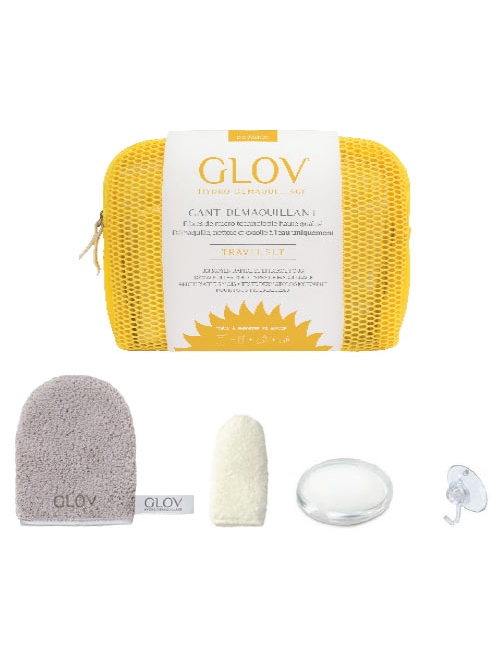 GLOV Travel Rękawica do demakijażu, mydełko, wieszak i kosmetyczka