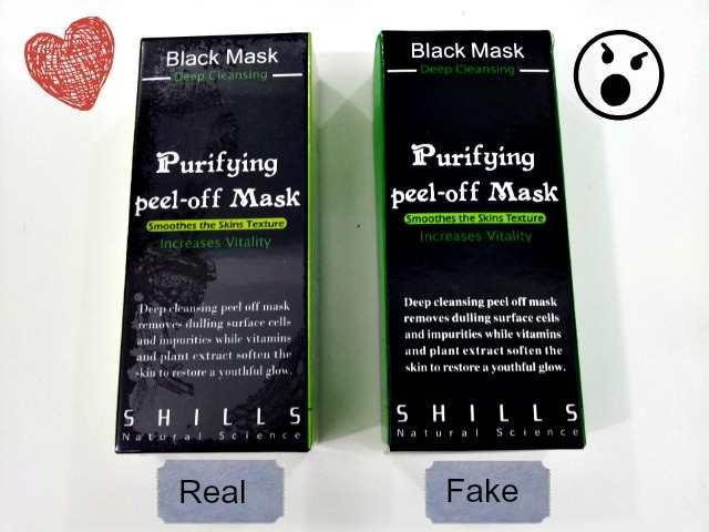 SHILLS Czarna maska - podróbka czy oryginał